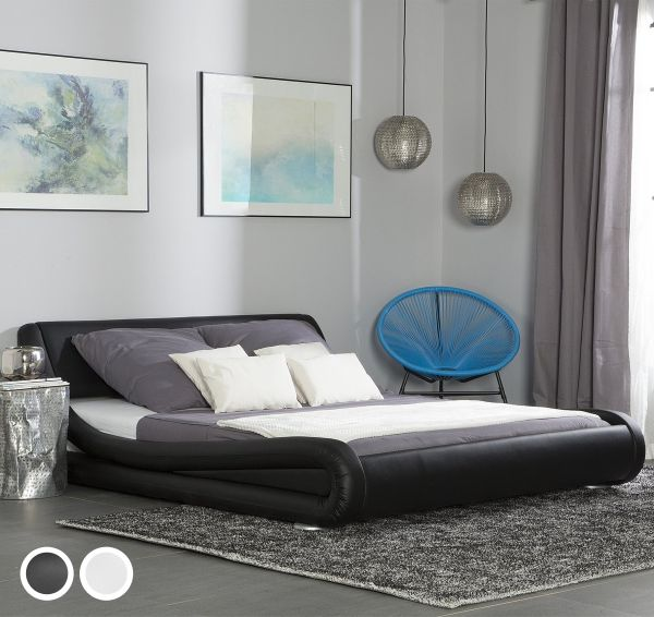 Avinon Faux Leather Bed -  Kingsize & Super Kingsize