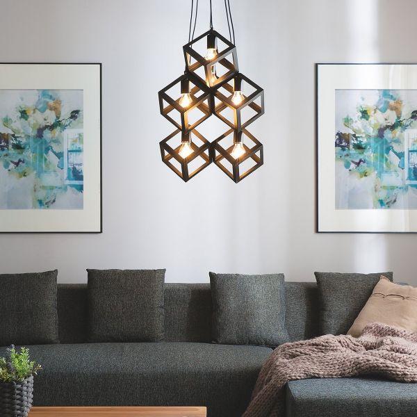 Chrisol 6 Light Metal Pendant Lamp