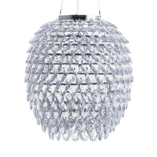 Saue Crystal Pendant Lamp - Silver