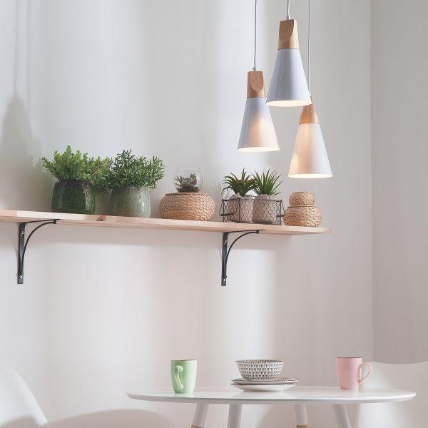 Ticina 3 Light Metal Pendant Lamp - White