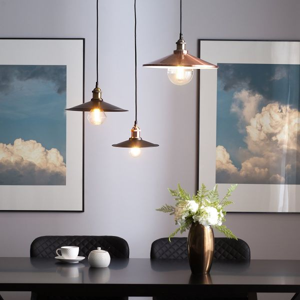 Pella Copper Metal Pendant Lamp