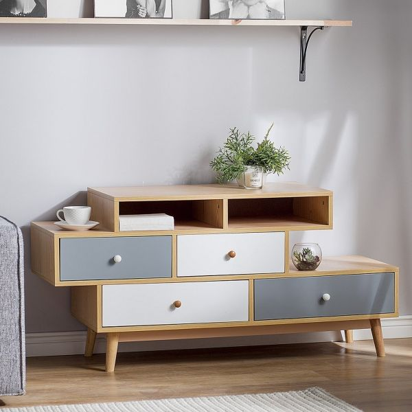Irvin Sideboard with 4 Drawers - Brown