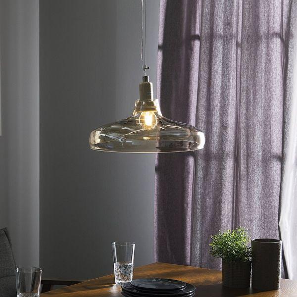 Aliko Tinted Glass Pendant Lamp - Gold