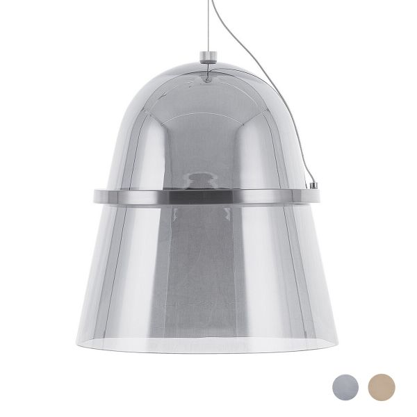 Ardil Smoked Glass LED Ceiling Light - 2 Colours