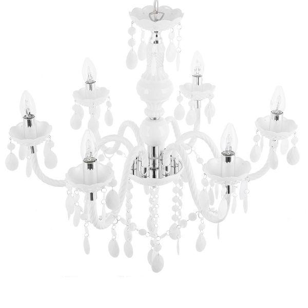 Kalan 6 Light Chandelier - White