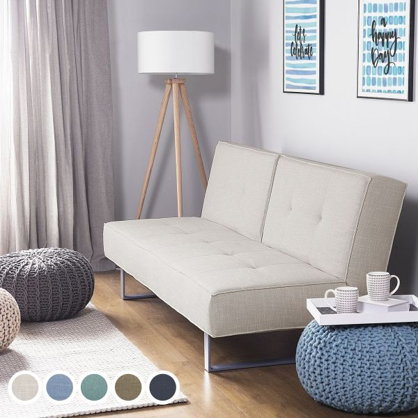 Dubin Fabric Sofa Bed with 3 Seater - 5 Colours