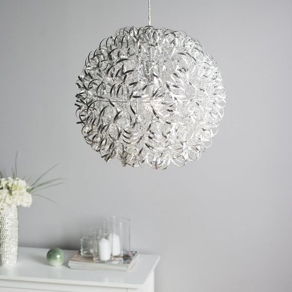 Malan Aluminium Pendant Lamp - Silver