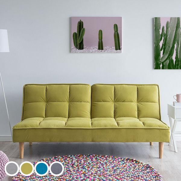 Sijan Fabric Sofa Bed with 3 Seater - 4 Colours