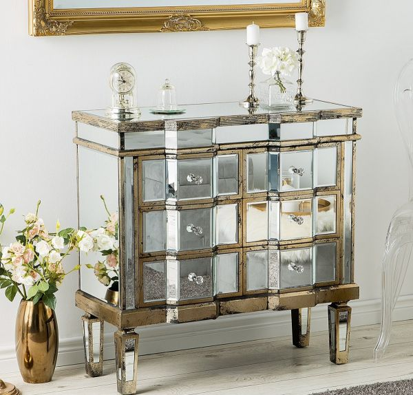 Mazila Sideboard with 6 Drawers - Mirrored