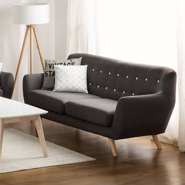 Boodo Fabric Sofa with 3 Seater - Grey