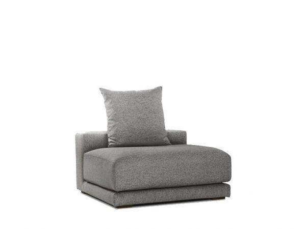 Clou Fabric Armless Armchair - Grey