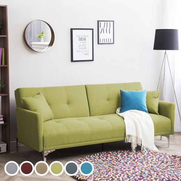 Lucca Fabric Sofa Bed with 3 Seater -  6 Colours