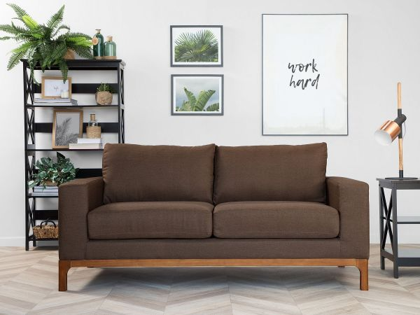 Reesa Fabric Sofa with 2 Seater - Brown