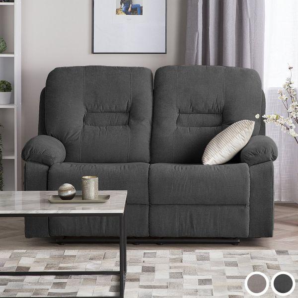 Bartan Fabric Reclining Sofa with 2 Seater -  Dark Grey or Taupe