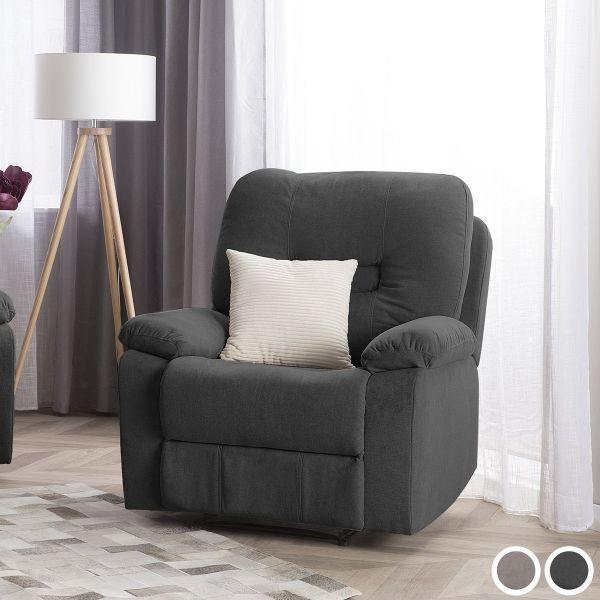 Bartan Fabric Reclining Armchair - Dark Grey or Taupe