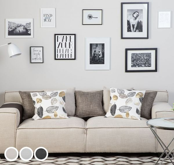 Visca Fabric Sofa with 3 Seater - 3 Colours