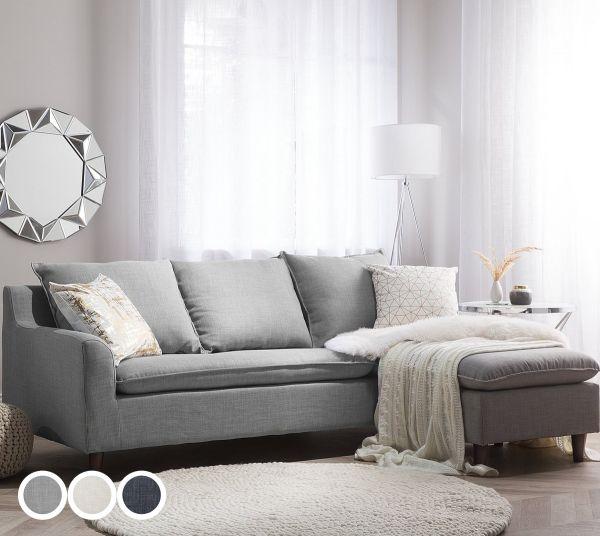 Elseves Fabric Corner Sofa - 3 Colours
