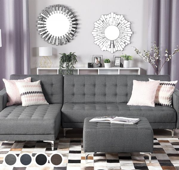 Abbie Fabric Corner Sofa - 4 Colours