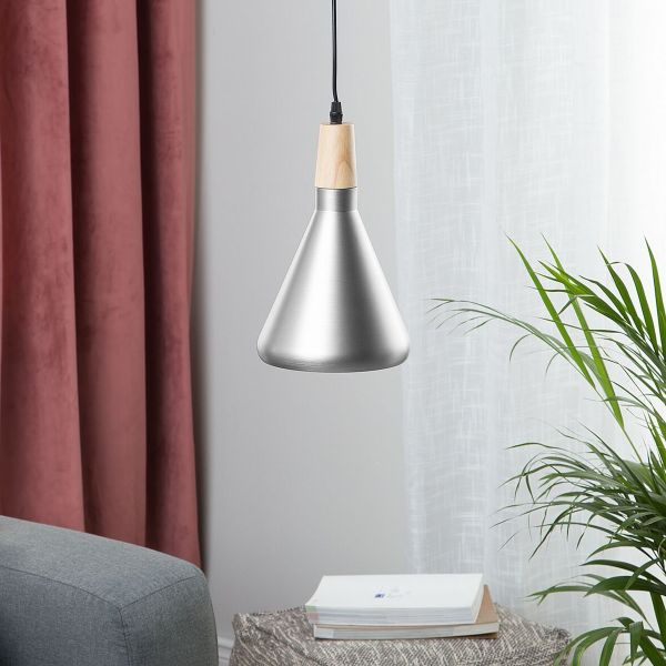 Ardy Metal Pendant Lamp - Silver