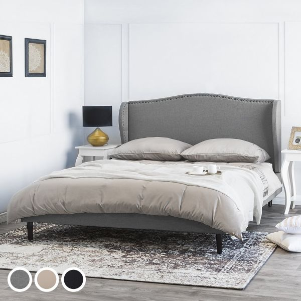 Marcol Fabric Bed - 3 Sizes & Colours