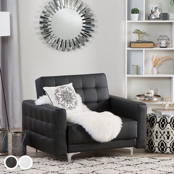 Abbie Faux Leather Armchair - Black or White