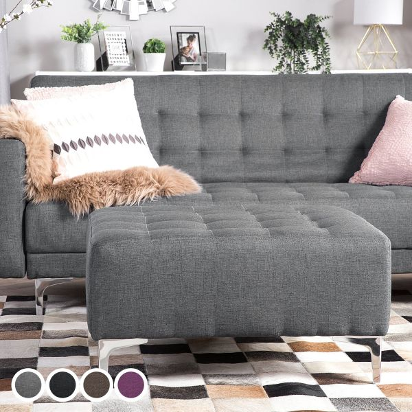 Abbie Fabric Ottoman - 4 Colours