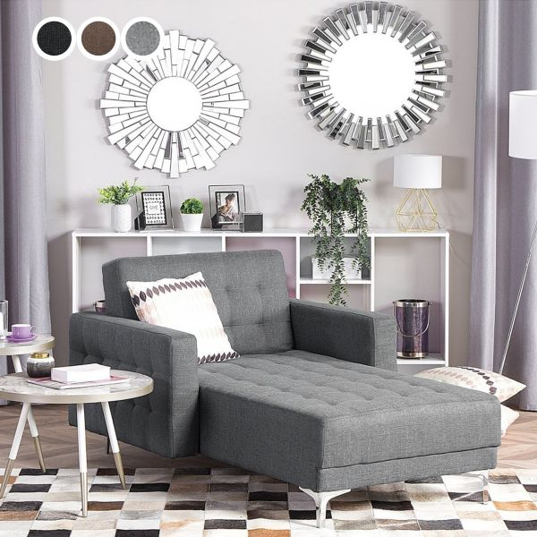 Abbie Fabric Chaise Longue - 3 Colours