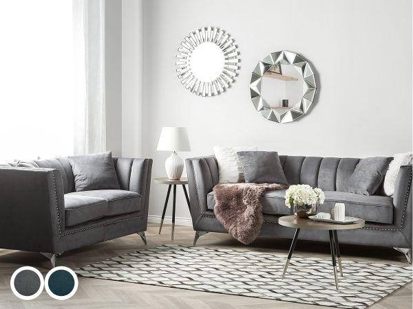 Gala Velvet Living Room Set - 2 Colours