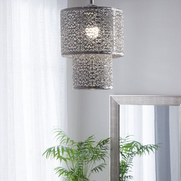 Osune Metal Pendant Lamp - Silver