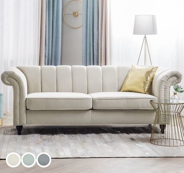 Laselva Fabric Sofa with 3 Seater - 3 Colours