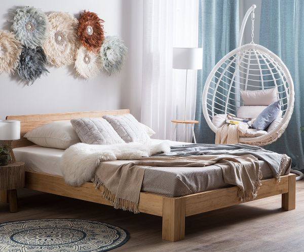 Roy Wooden Bed - 3 Sizes