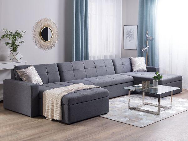 Laula Fabric Modular Corner Sofa Bed - Grey