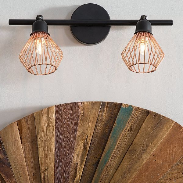 Olga 2 Light Metal Wall Light - Copper