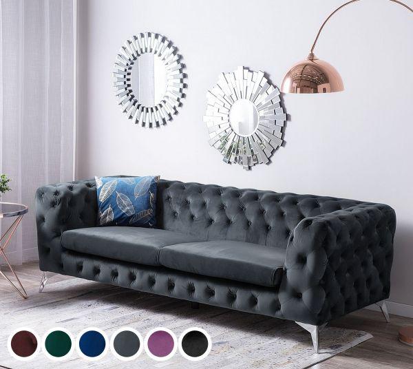Satri Velvet Sofa with 3 seater - 6 Colours