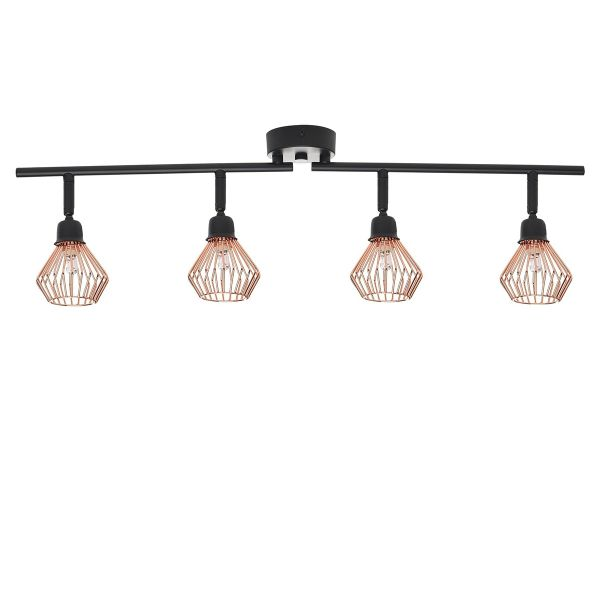 Olga 4 Light Metal Ceiling Lamp - Copper