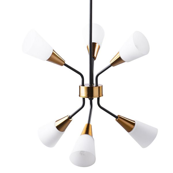 Aroya 6 Light Metal Pendant Lamp - White