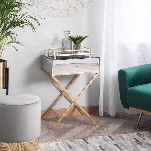 Vive Side Table with Mirror