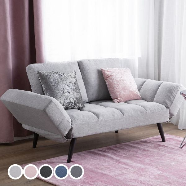 Briki Fabric Sofa Bed with 2 Seater - 5 Colours