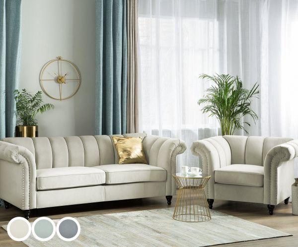 Laselva Fabric Living Room Set - 3 Colours