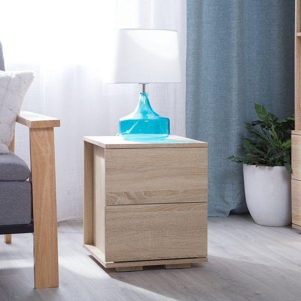 Rosar Light Wood Bedside Table