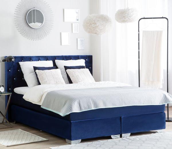 Duches Fabric Velvet Divan Bed - Kingsize & Super Kingsize