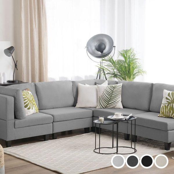 Fevi Fabric Modular Corner Sofa - 4 Colours