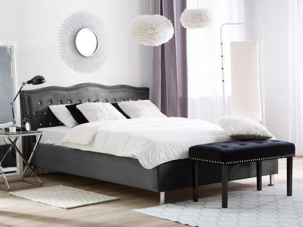 Metz Fabric Velvet Bed - Kingsize & Super Kingsize