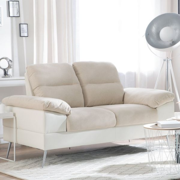 Tome Fabric Sofa with 2 Seater - Beige or Grey