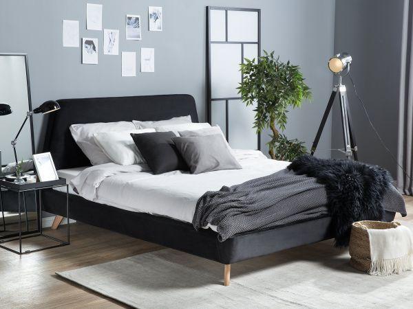 Viena Fabric Velvet Bed - Kingsize & Super Kingsize