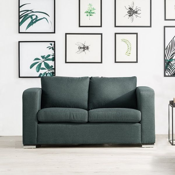 Helsin Fabric Sofa with 2 Seater - Grey