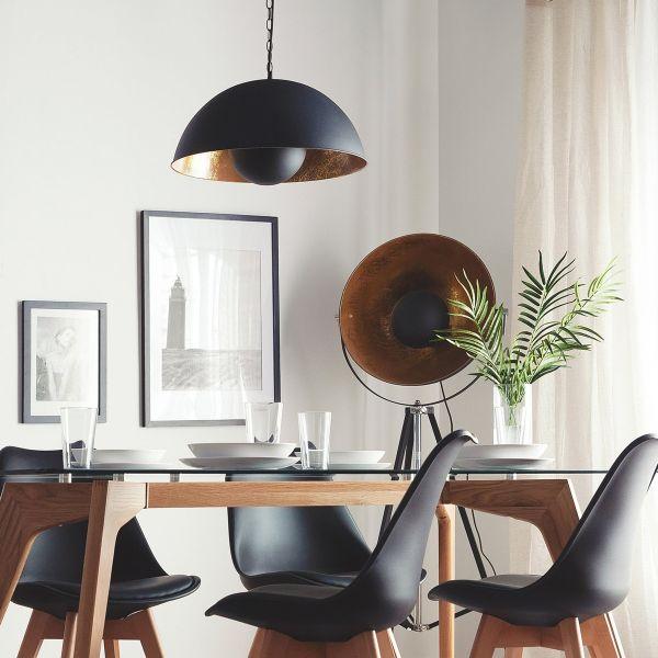 Thame Metal Pendant Lamp - Black