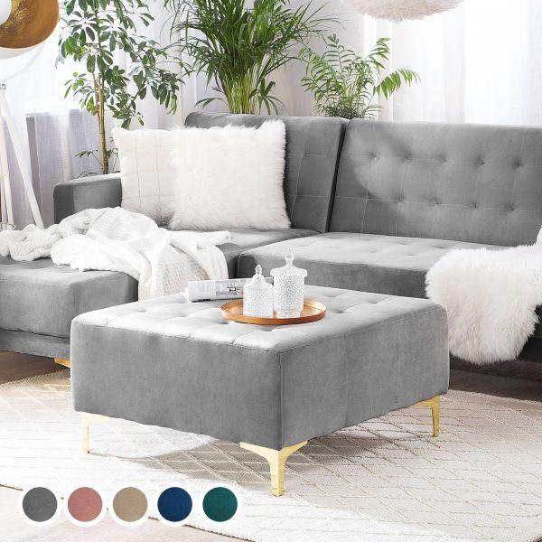 Abbie Velvet Ottoman - 5 Colours