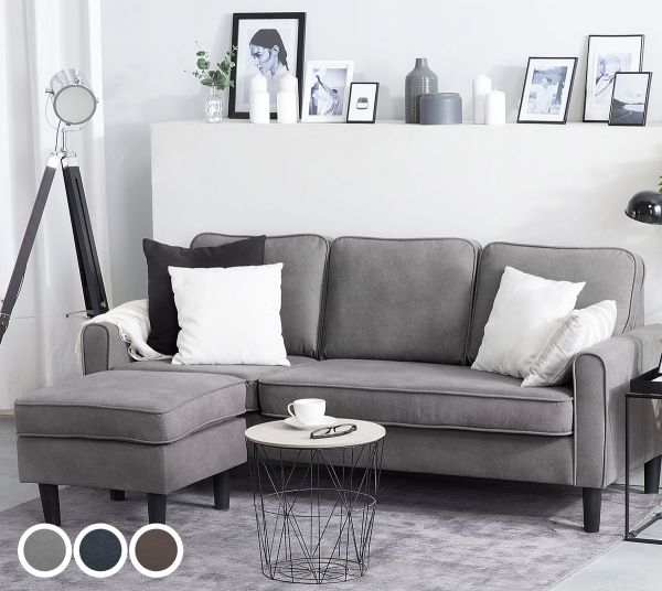 Avessa Fabric Sofa with Ottoman - 3 Colours