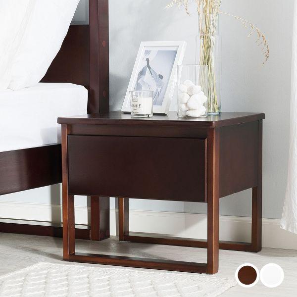 Giuli Wooden Side Table Nightstand- Oiled